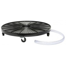 Plant Dolly Black 24 in Round w/ Hydro Fitting