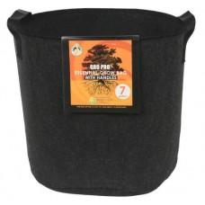 Gro Pro Essential Round Fabric Pot w/ Handles      7 Gallon - Black