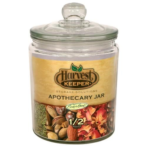 sc 1 st  Rhode Island Hydroponics & Harvest Keeper Glass Storage Apothecary Jar w/ Sealed Lid - 1/2 Gallon