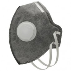 Grower's Edge Clean Room Vertical Fold-Flat Active Carbon Respirator Mask w/ Valve