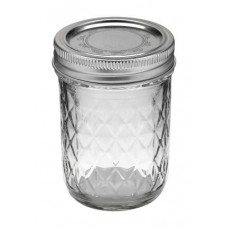 Ball Jar 8oz Quilted Crystal (12/cs)
