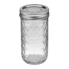 Ball Jar 12oz Quilted Crystal (12/cs)